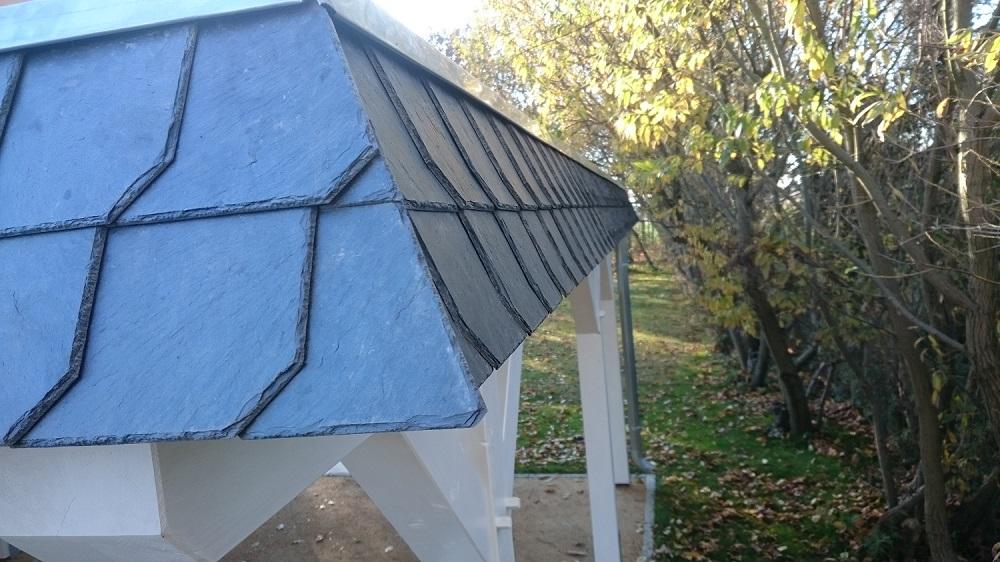 Carport Dachblende - Naturschiefer